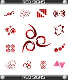 Red Signs Icon Set Vector, Easily Editable Royalty Free Stock Photo