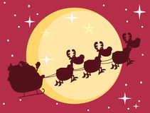 Red silhouette of santa Stock Images