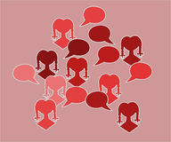 Red silhouette speak bubble Royalty Free Stock Photos