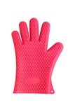 Red silicon kitchen glove isolated on white Stock Photography