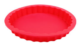 Red silicone cake form Stock Photos