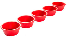 Red Silicone Muffin Baking Cup I Stock Photos