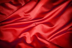 Red silk. Stock Images