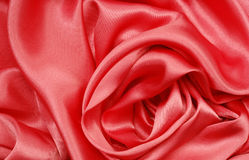 Red silk. Silk background, material pattern , close up Royalty Free Stock Images