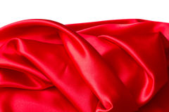 Red silk. On a white background royalty free stock image