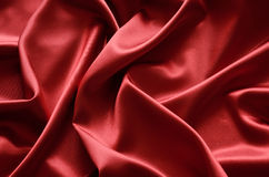 Red silk. Illustration with red silk cloth with folds stock images