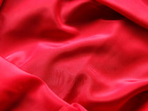 Red Silk. Smooth red silk drapery background Royalty Free Stock Photo