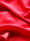 Red Silk. Smooth red silk drapery background Stock Images