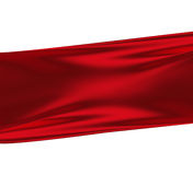 Red Silk. Against white as background Royalty Free Stock Image