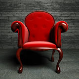 Red silk armchair Stock Images