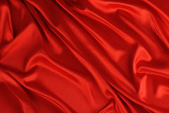 Red silk backdrop Stock Images