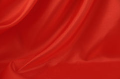 Red silk background 2 Stock Photos