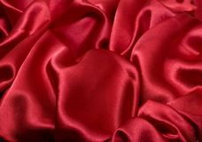 Red silk background Stock Photography