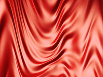 Red silk background. 3d illustration Royalty Free Stock Images
