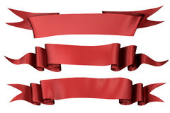 Red silk banners  Stock Image