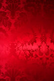 Red silk with beautiful picture Royalty Free Stock Photography
