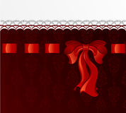 Red silk bow Royalty Free Stock Photography