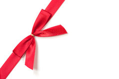 Red Silk Bow on White Background Royalty Free Stock Images