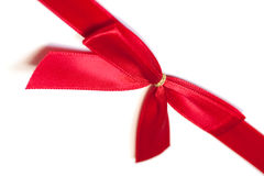 Red Silk Bow on White Background Royalty Free Stock Photos
