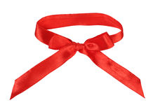 Red silk bow Stock Photography