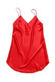 Red silk chemise. Stock Photos