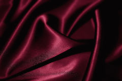 Red silk closeup Royalty Free Stock Photos