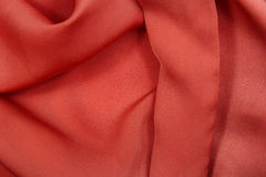 Red silk cloth background Stock Image