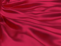 Red silk cloth Stock Image