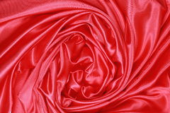 Red Silk cloth of wavy abstract background Stock Photos
