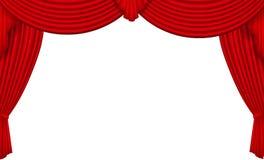 Red silk curtain Stock Photo