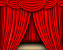 Red silk curtain Stock Image