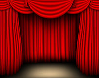 Red silk curtain Royalty Free Stock Image