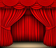 Red silk curtain Royalty Free Stock Photos