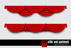 Red silk curtain Stock Photography