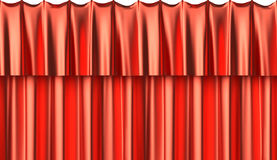 Red silk curtain seamless background Royalty Free Stock Photography
