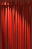 Red silk curtain under diagonal spot light Stock Photography