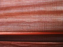 Red silk curtains Stock Images