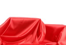 Red silk drape. Royalty Free Stock Image