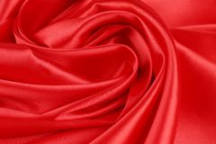 Red silk drapery. Close up. Whole background Stock Photos