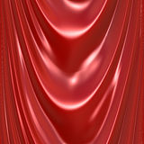 Red Silk Drapery Curtain Texture. An illustration of a silky satin red drapery or curtain. This tiles seamlessly as a pattern in any direction Stock Photos