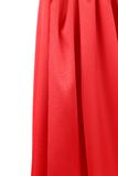 Red silk drapery. Royalty Free Stock Photography