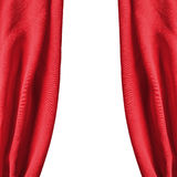 Red silk drapes. Isolated over white as a background Stock Image