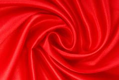 Red silk fabric. Royalty Free Stock Image