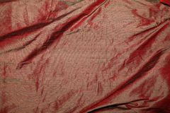 Red silk fabric Stock Images