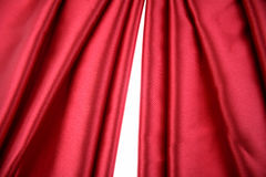 Red silk fabric Royalty Free Stock Photography