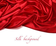 Red silk fabric background Stock Images