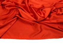 Red silk fabric background Royalty Free Stock Photos