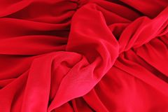 Red silk fabric background. Sexy red silk fabric as background cover. Sexy illustration. Silk closeup texture pattern Royalty Free Stock Images