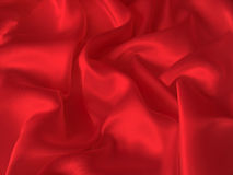Red silk fabric background Stock Image