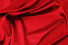 Red silk fabric Stock Image